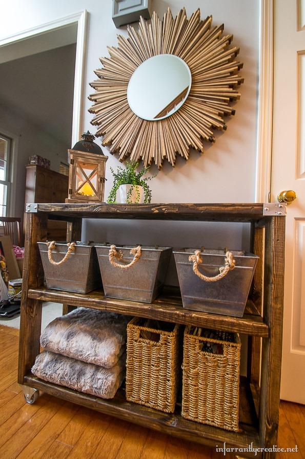 DIY foyer furniture