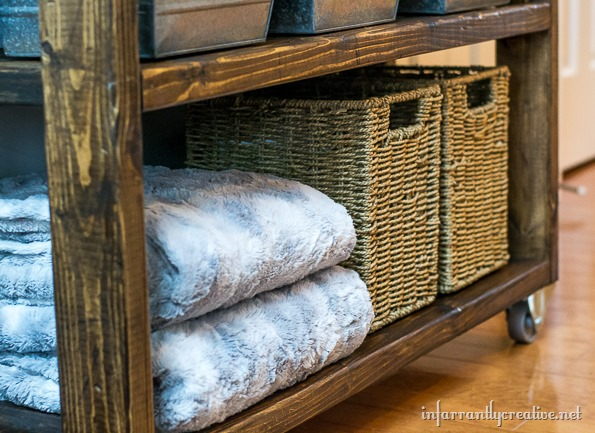DIY industrial rustic cart