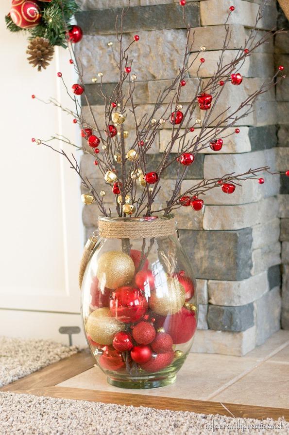 ornament filled lantern