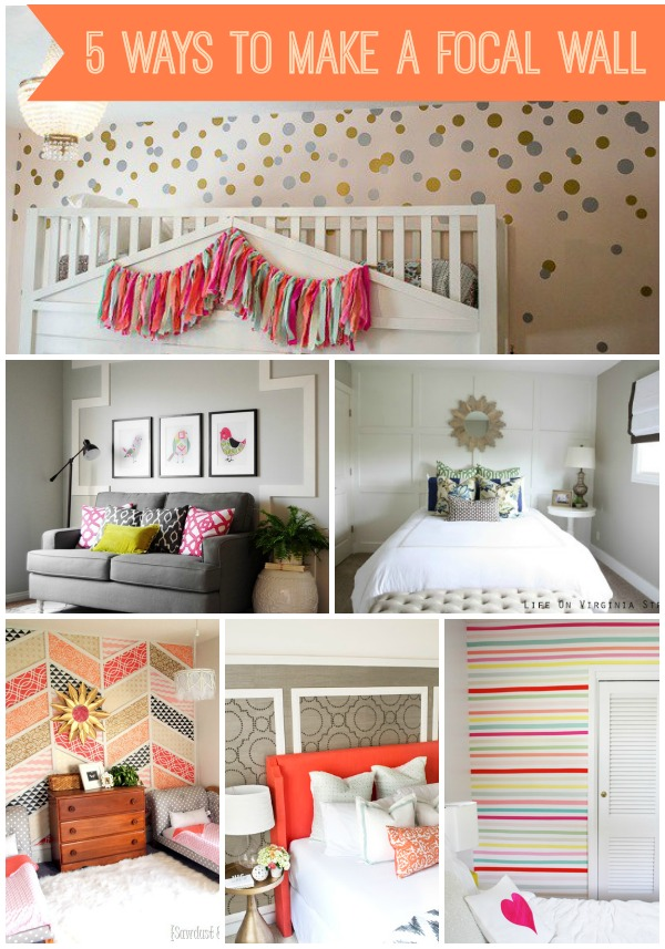 5 Ways to Create a Focal Wall