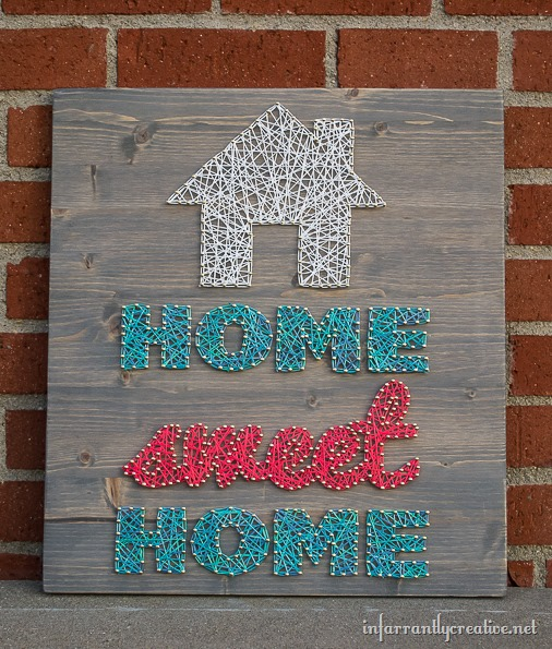 DIY string art home sweet home