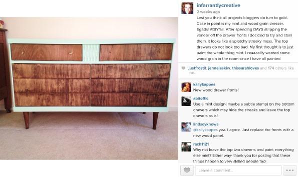 mint and wood dresser