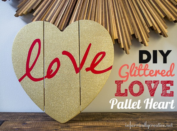 Gold Glittered Heart Wall Art