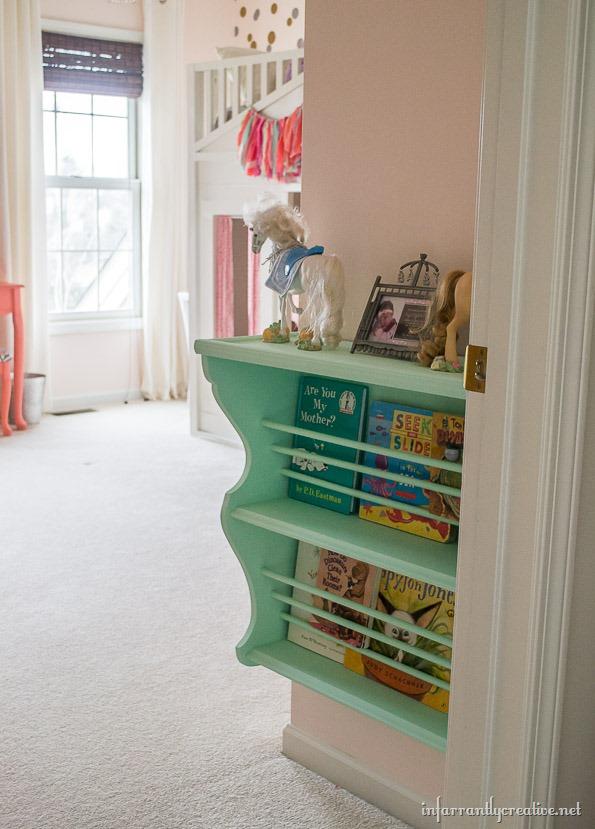 coral mint pink bedroom