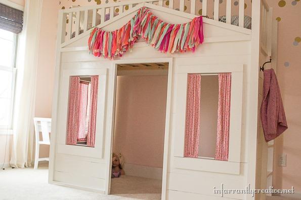 cottage loft bed curtains