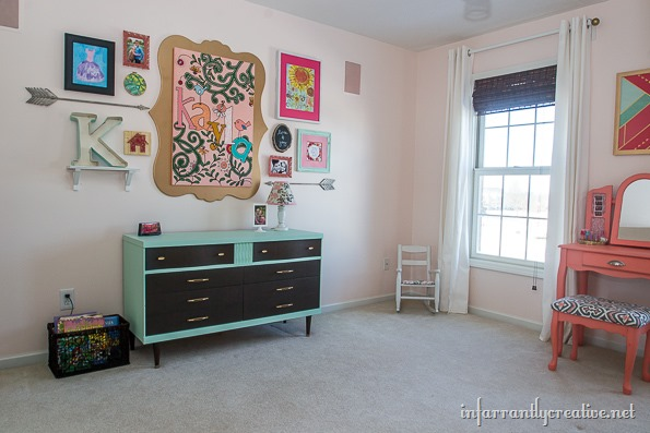 Coral Pink Bedroom: Coral, Mint And Pink Little Girls Room Reveal