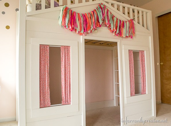 Pottery Barn Cottage Loft Bed Knock Off Infarrantly Creative