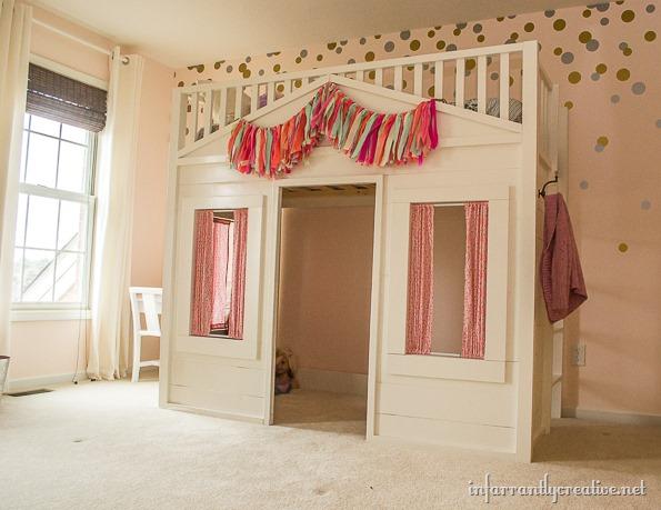 Pottery Barn Cottage Loft Bed Knock Off Infarrantly Creative