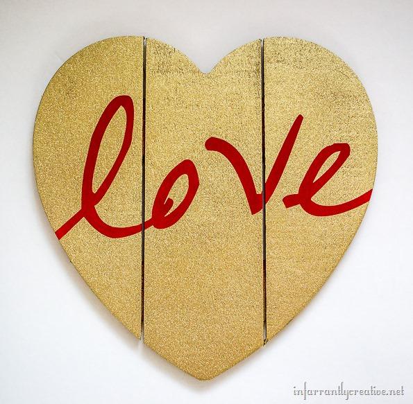 red love glitter heart