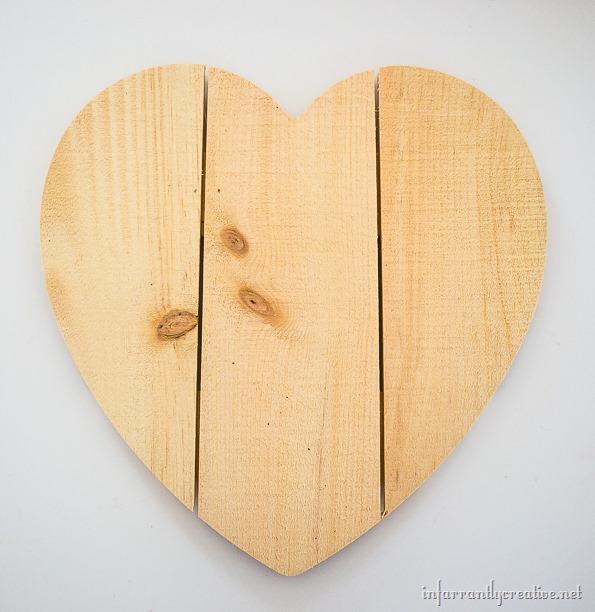 rustic wood heart