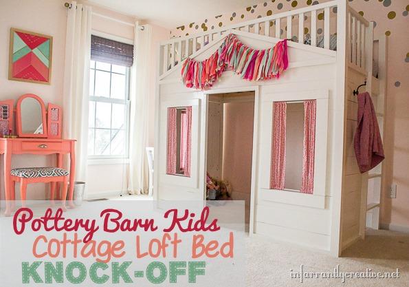 Ttery Barn Kids Cottage Loft Bed KNOCK OFF