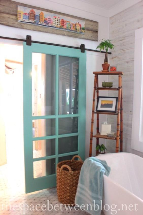 turquoise-glass-panel-door