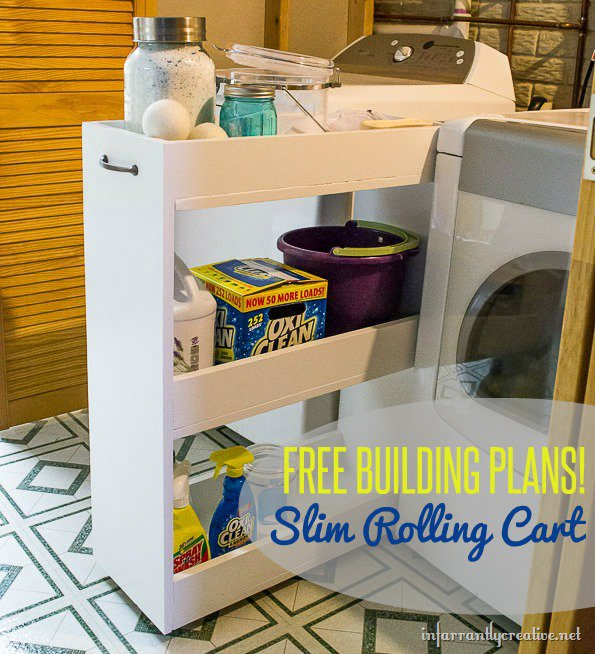 free plans for a slim rolling cart