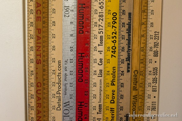 yardstick wall