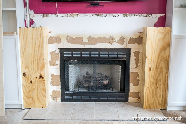 building a fireplace surround
