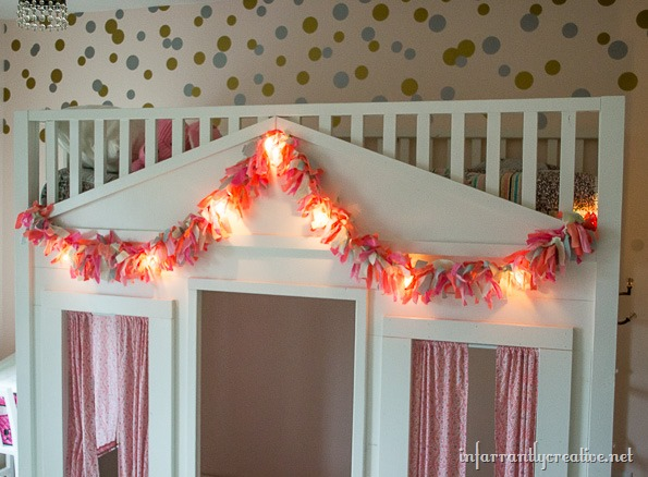 fabric garland lighted