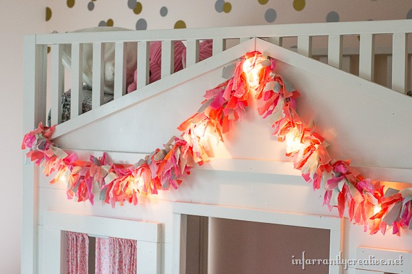 fabric garland with lights