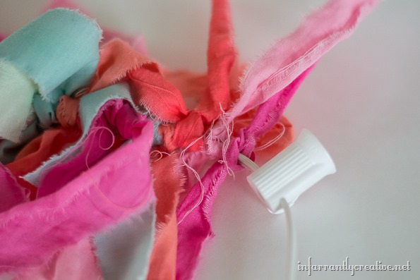 how to make a rag garland