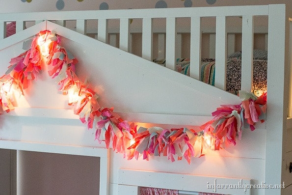 lighted rag garland DIY