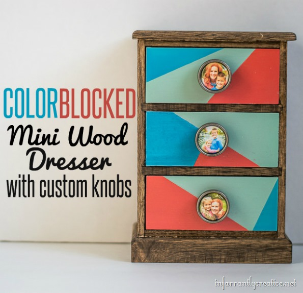 color blocking mini dresser