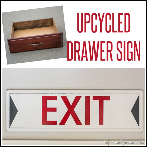 upcycled drawer sign