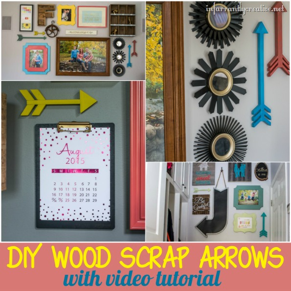 DIY wood scrap arrow