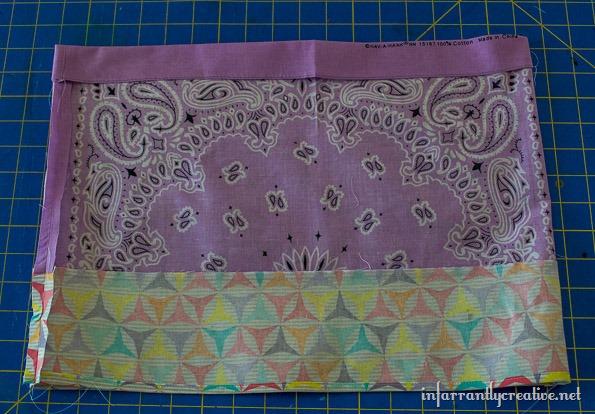 bandana skirt with patterned edge