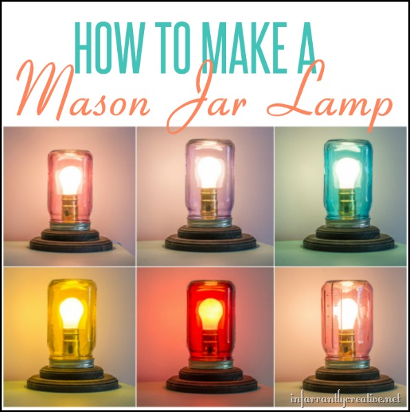 how to make a mason jar lamp