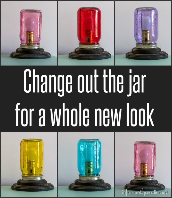 mason jar colored lamps