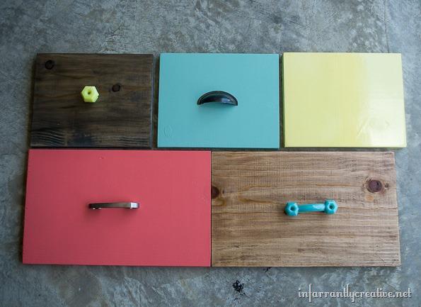 multi colored dresser