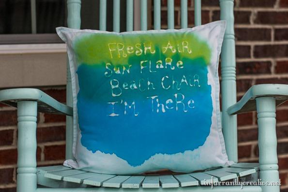 DIY watercolor pillow