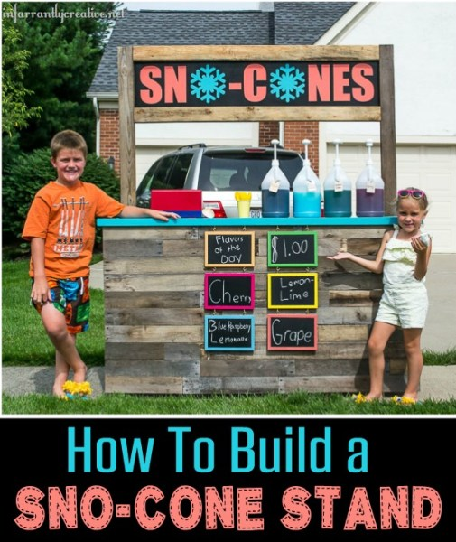 how to build a DIY sno cone stand