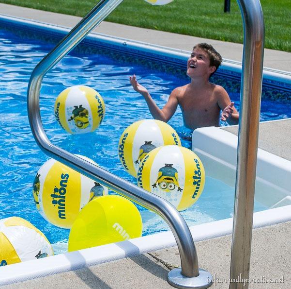 minion beach balls