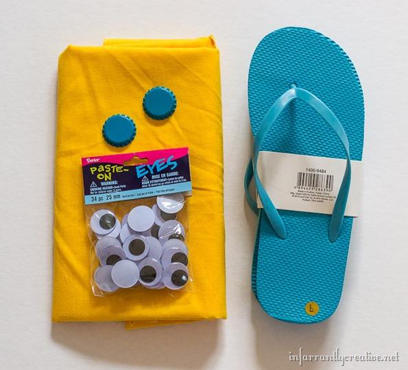 minions craft flip flops