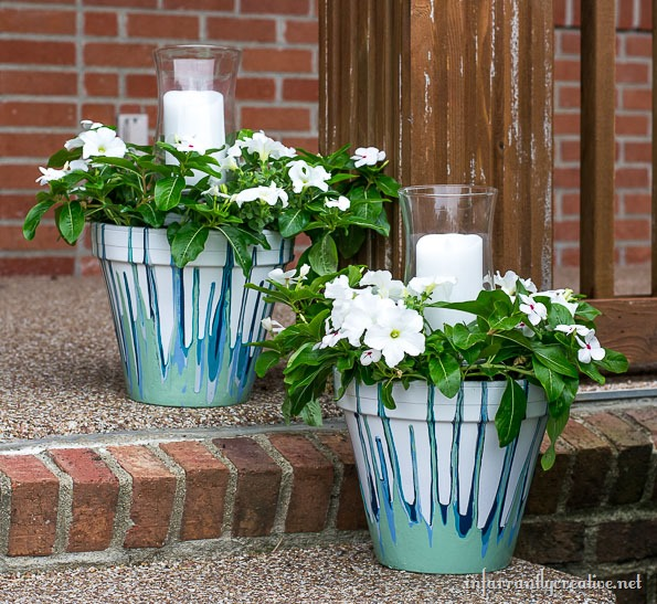 painted-drop-pots-with-center-candle