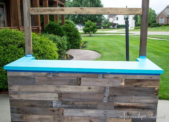 sno-cone stand reclaimed wood