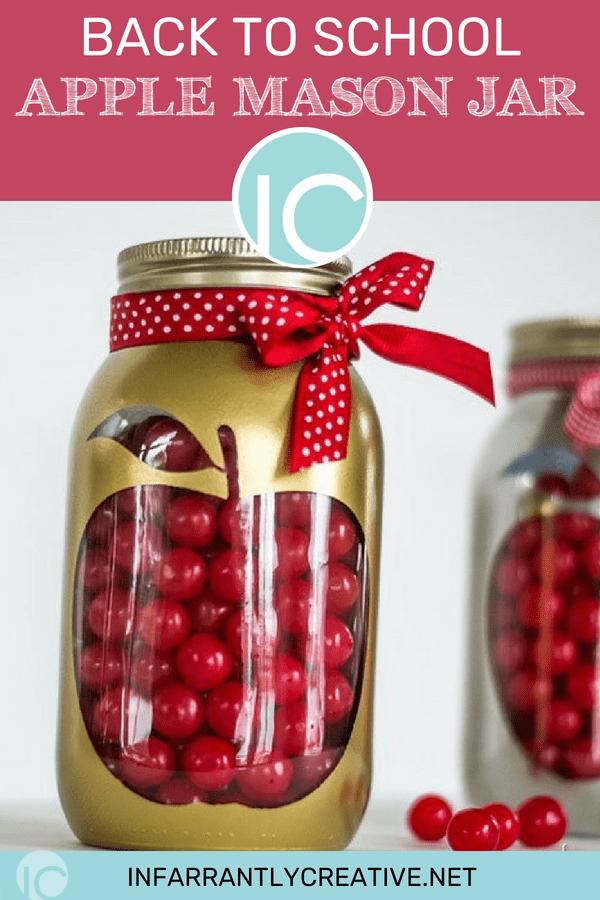 back to school apple mason jar craft