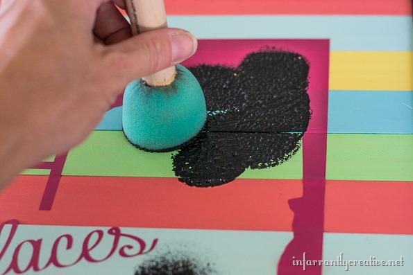 DIY sign with paint sticks