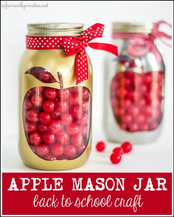 apple mason jar back to school