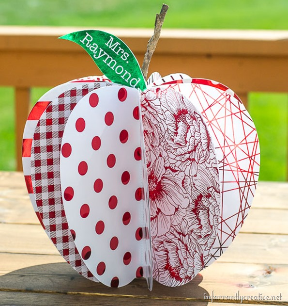 color foil paper apple