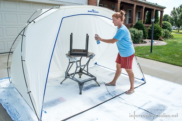 spray-paint-shelter & Home Right Spray Tent Shelter - Infarrantly Creative