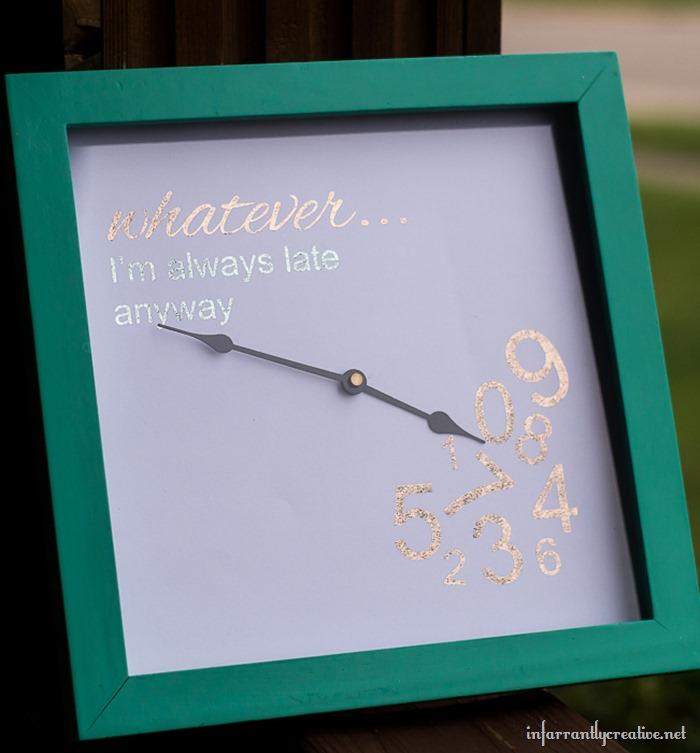 colored foil clock
