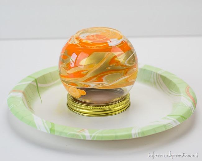 glass pumpkin craft