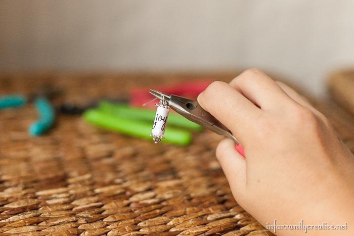 how to make paper bead earrings
