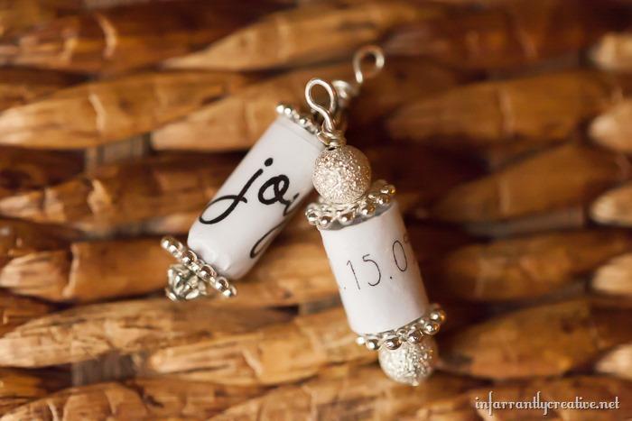 paper beads custom words