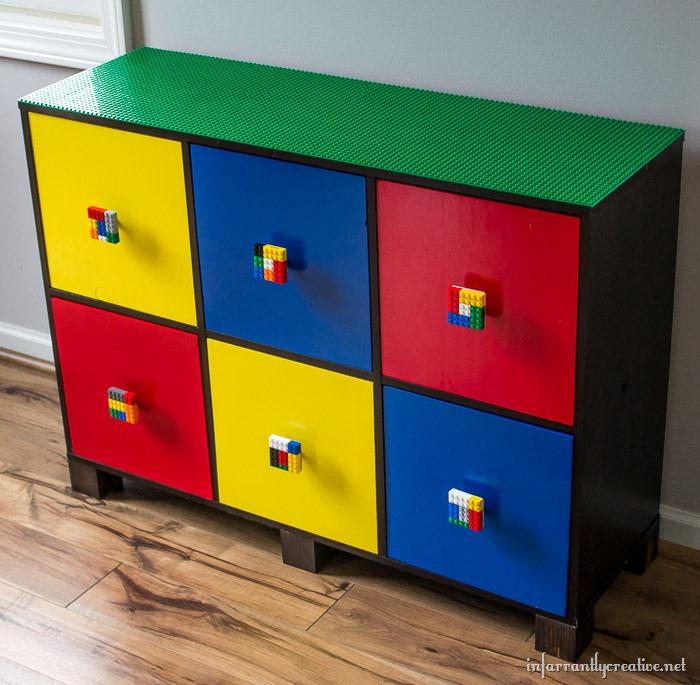DIY Lego Table with Custom Lego Knobs