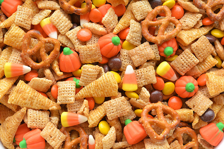 Halloween Harvest Hash Chex Mix