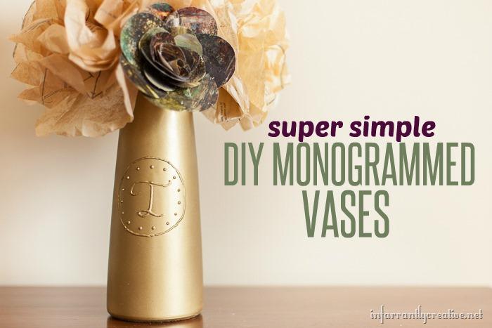Monogrammed Vases-tutorial