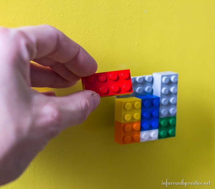 knobs made of legos