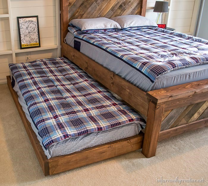 farmhouse bed with trundle